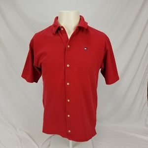 Vintage 90's Tommy Hilfiger Button Down Polo XL